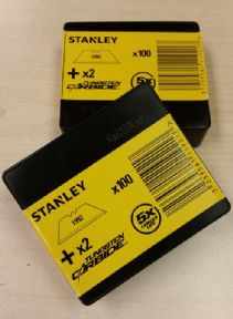 200 x Original Stanley 1992, Heavy Duty Straight Blades, 2 notch, Stanley 11-921